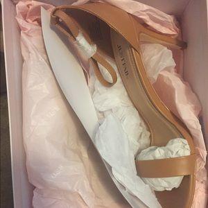 Almond strap heels